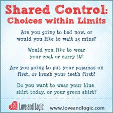 Love and Logic - shared control