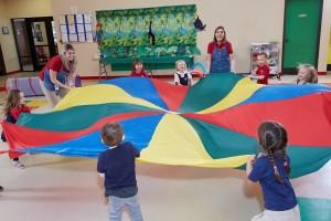 Spanish Schoolhouse Parachute Games