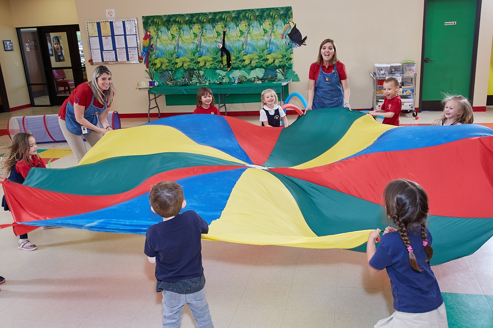 Spanish Schoolhouse Parachute Games