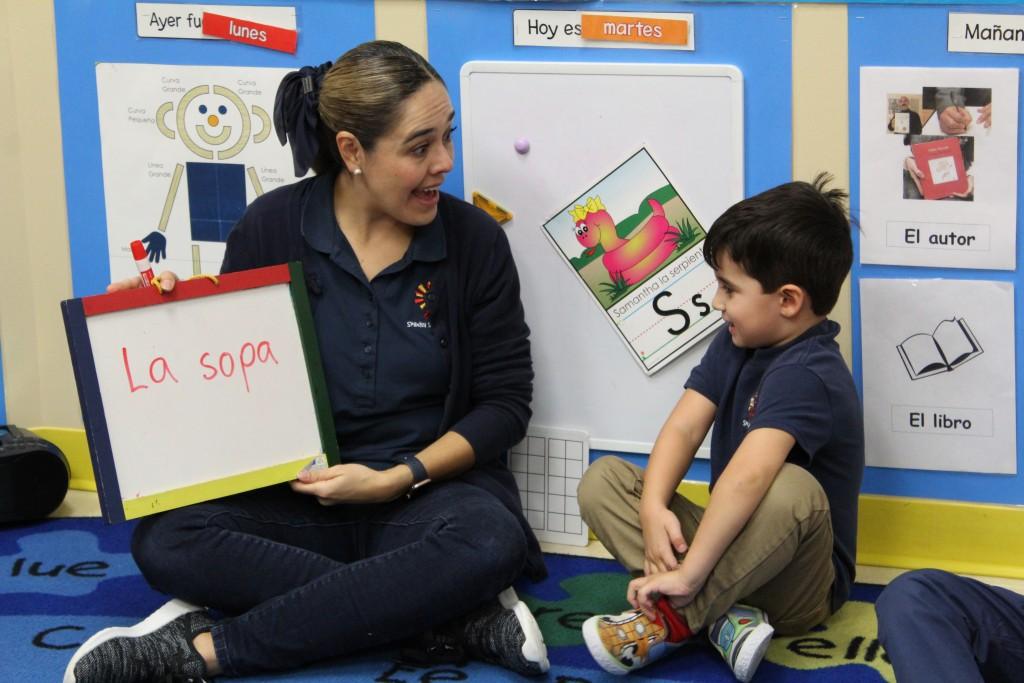 Spanish immersion preschool circle time