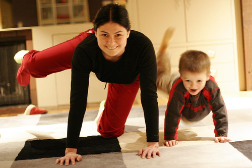 parent and child yoga, spanish schoolhouse