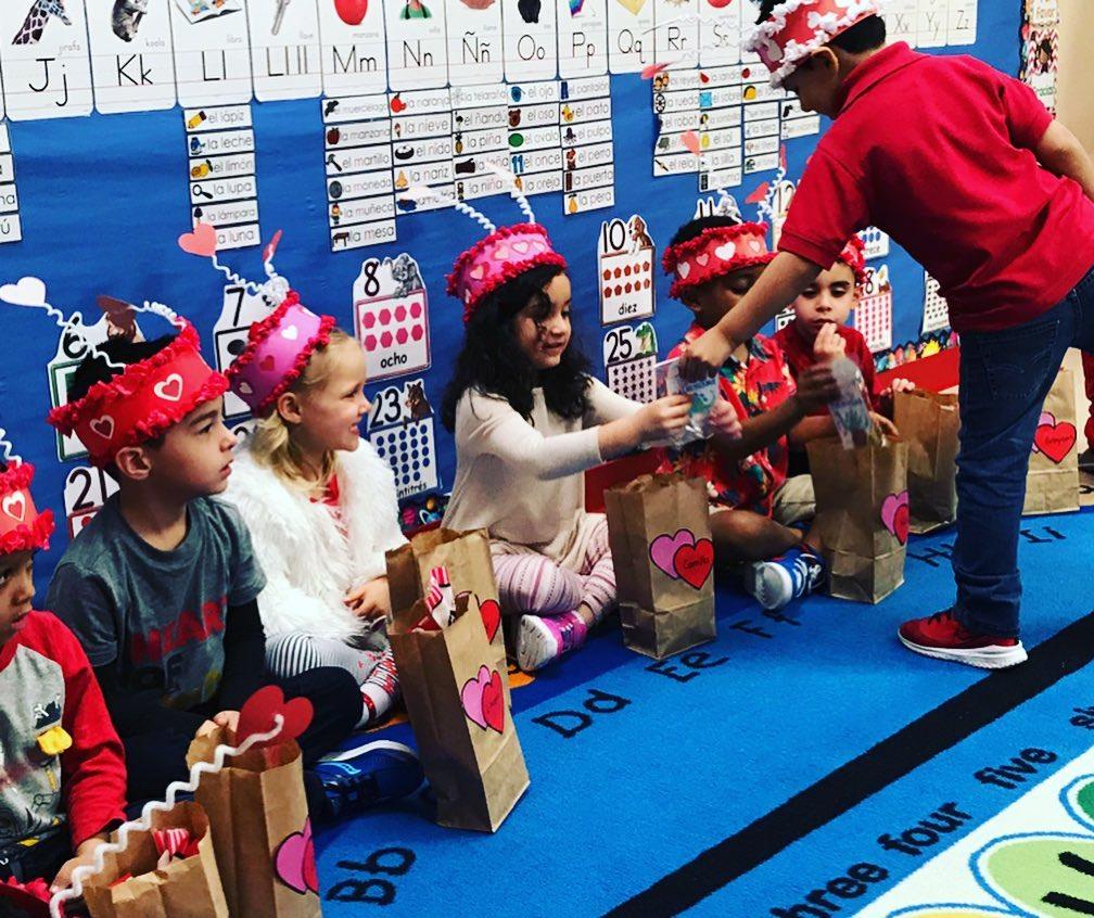 Spanish Schoolhouse Valentine's Day celebration, love and friendship