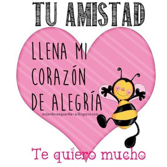 Amistad, Friendship, Valentine Card in Spanish