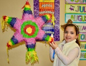 star-shaped piñata, Spanish Schoolhouse