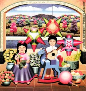 Mexican piñatas art by Patricia Strempler