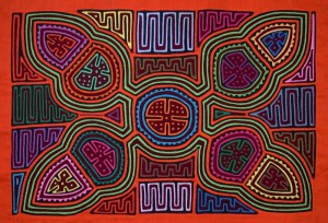 traditional mola geometric design