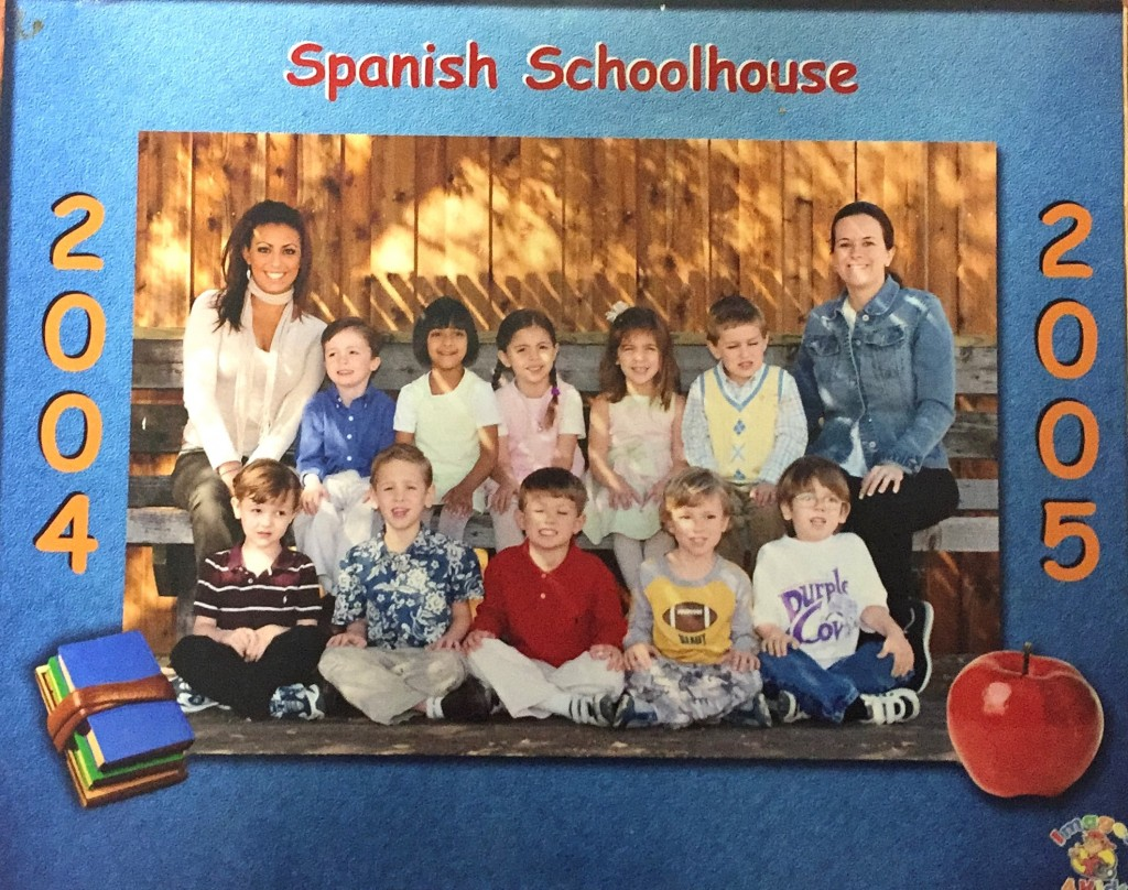 Spanish Schoolhouse students with Gaby Martinez del Rio