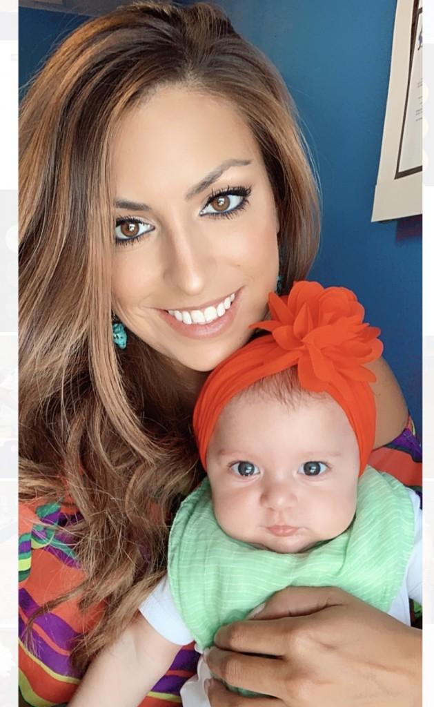 Gaby Martinez del Rio and daughter Aria