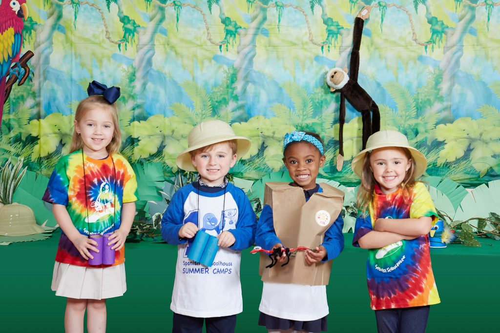 Spanish Schoolhouse summer camp children learning about the Amazon rainforest.