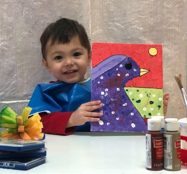 Preschool Art project, preschool child, Spanish Schoolhouse