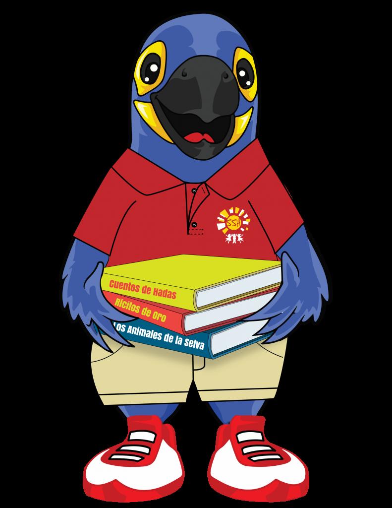 Periquito Azul; Spanish Schoolhouse mascot